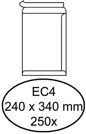 Envelop Quantore akte EC4 240x340mm zelfklevend wit 250stuks