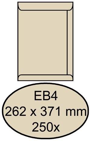 Envelop Quantore akte EB4 262x371mm cremekraft 250stuks