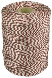 Touw katoen 180meter rood/wit