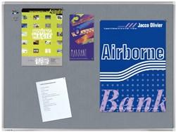Textielbord Legamaster Premium 90x120cm grijs