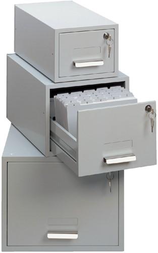 Kaartenbak Durable metaal A6 100x150mm lichtgrijs 3352-10