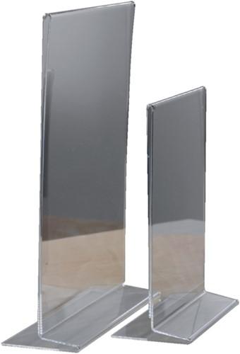 Kaarthouder OPUS 2 T-standaard A4 staand acryl-2