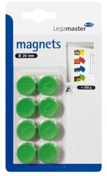 Magneet Legamaster 20mm 250gr groen 8stuks