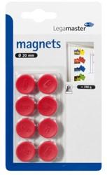 Magneet Legamaster 20mm 250gr rood 8stuks