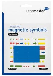 Magneet Legamaster symbolen 10mm blauw assorti