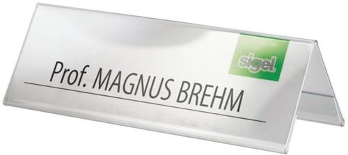 Tafelnaambord Sigel TA132 190x60mm 2-zijdig transparant-2