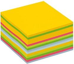 Memoblok 3M Post-it 2030U kubus 76x76mm neon regenboog 450v