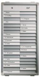 Aan-afwezigheidsbord Legamaster 77x28cm 30 posities