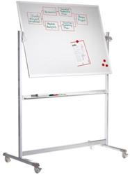 Whiteboard Lega verrijdbaar 100x200cm magnetisch emaille