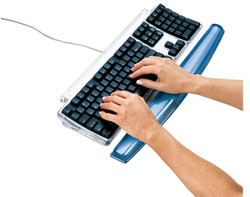 Polssteun toetsenbord Fellowes transparant blauw