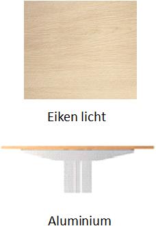 Bureau FlexFrame zit/sta 140x80cm hoogte elektrisch verstelbaar  - Aluminium - Eiken licht